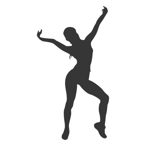 Woman fitness silhouette Transparent PNG