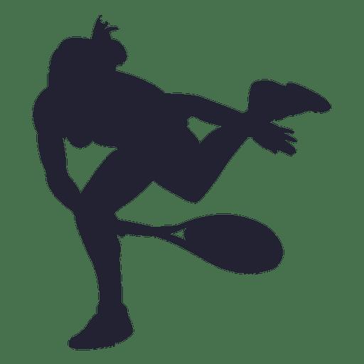 Mulher, tocando, tênis, silueta, 1 Transparent PNG