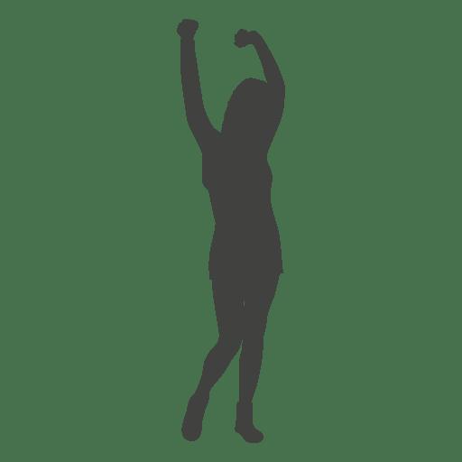 Mujer, levantar, manos, silueta Transparent PNG
