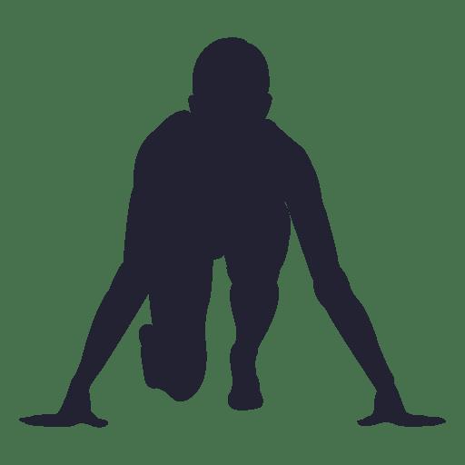 Mulher, executando, marca, silueta Transparent PNG