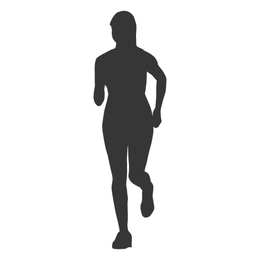 Woman running silhouette 2 Transparent PNG