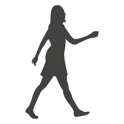 Woman walking rush silhouette - Transparent PNG & SVG vector