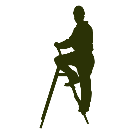 Worker on ladder Transparent PNG