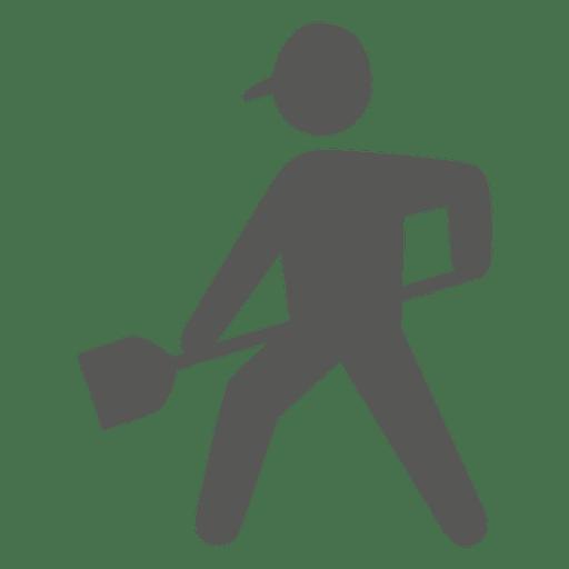 Trabalhador, com, pá, ícone Transparent PNG