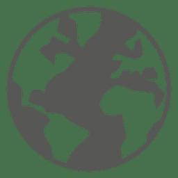 Ícone do globo do mapa do mundo