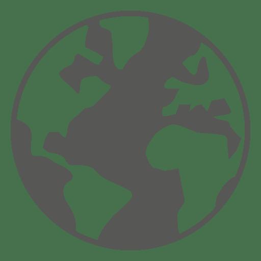 Ícone do globo do mapa do mundo Transparent PNG