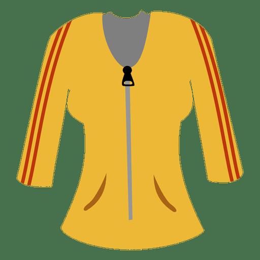 Camisola amarela das senhoras Transparent PNG