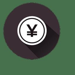 Yen icono de círculo 2