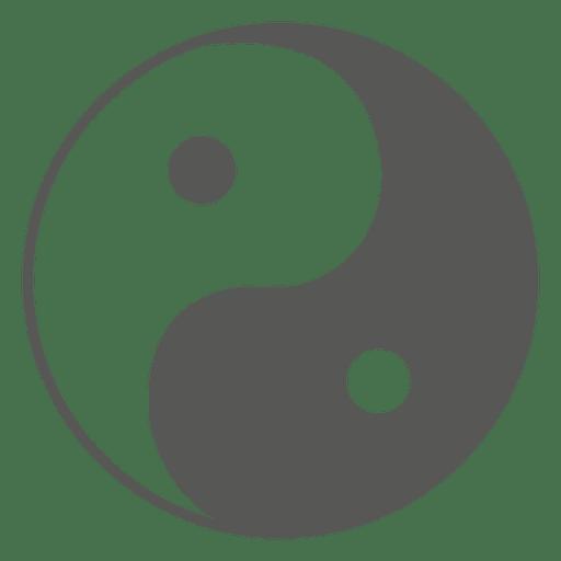 Transparent Yin Yang Symbol