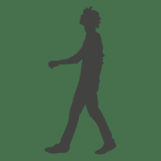 Chico joven silueta que camina