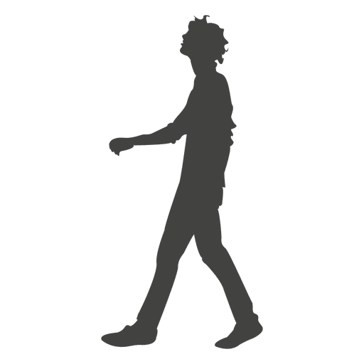 Young boy walking silhouette Transparent PNG