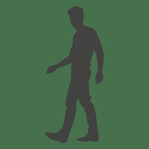 Young boy walking silhouette 2