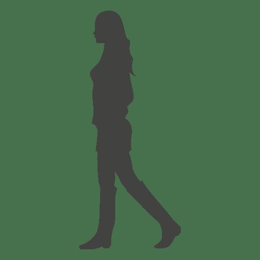 Niña caminando silueta