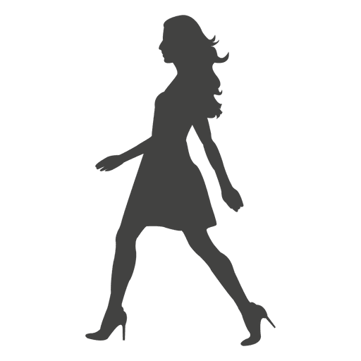 Young woman walking silhouette 3 - Transparent PNG & SVG ...