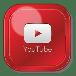 Logotipo quadrado do aplicativo do Youtube