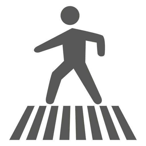 Zebra crossing sign Transparent PNG