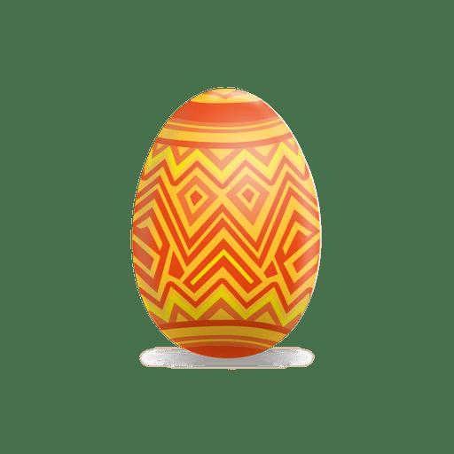 Huevo de pascua de l?neas en zigzag