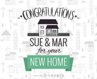 Nueva casa felicitaciones fabricante de tarjetas