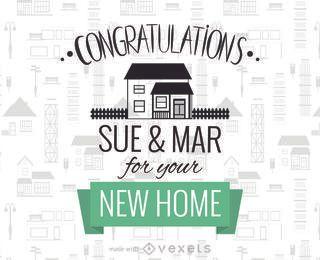 Nueva enhorabuena del fabricante de la tarjeta de casas