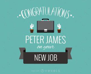 Nuevo fabricante de tarjetas de felicitación de trabajo