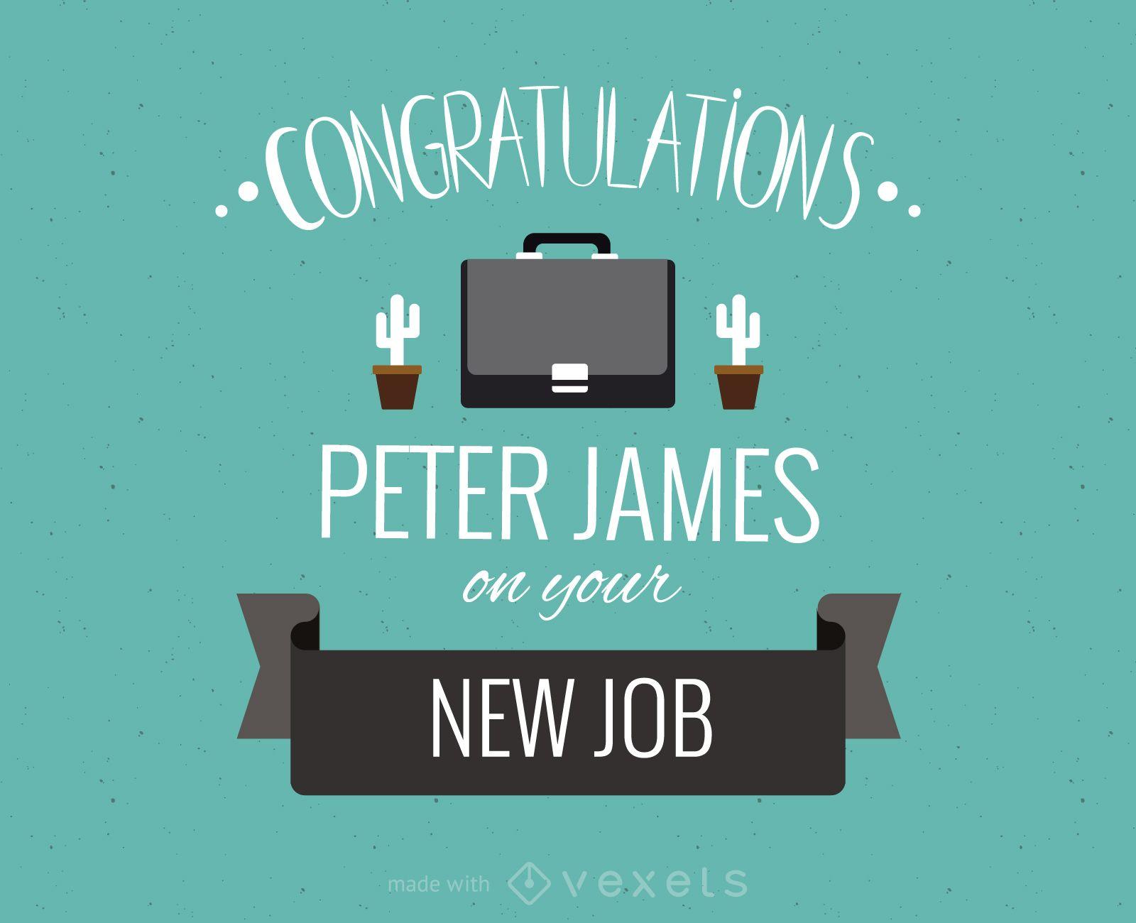 New job greeting card maker