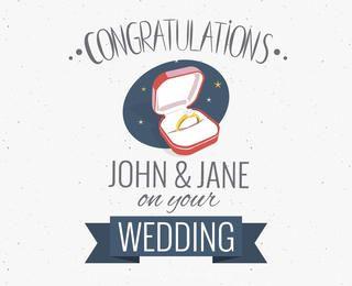 felicitaciones de boda fabricante de la tarjeta de felicitación