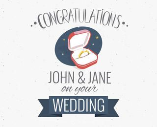 Wedding congratulations greeting card maker
