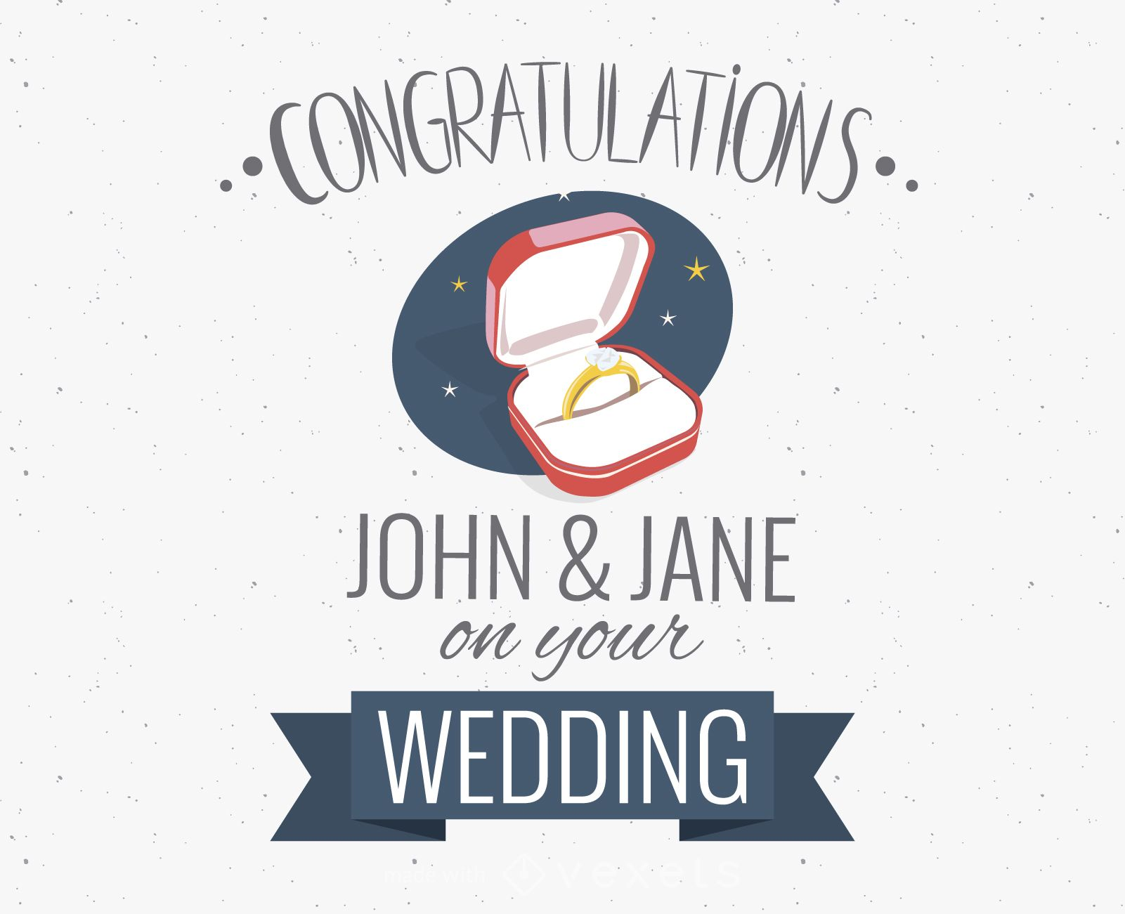Wedding congratulations greeting card maker Editable design