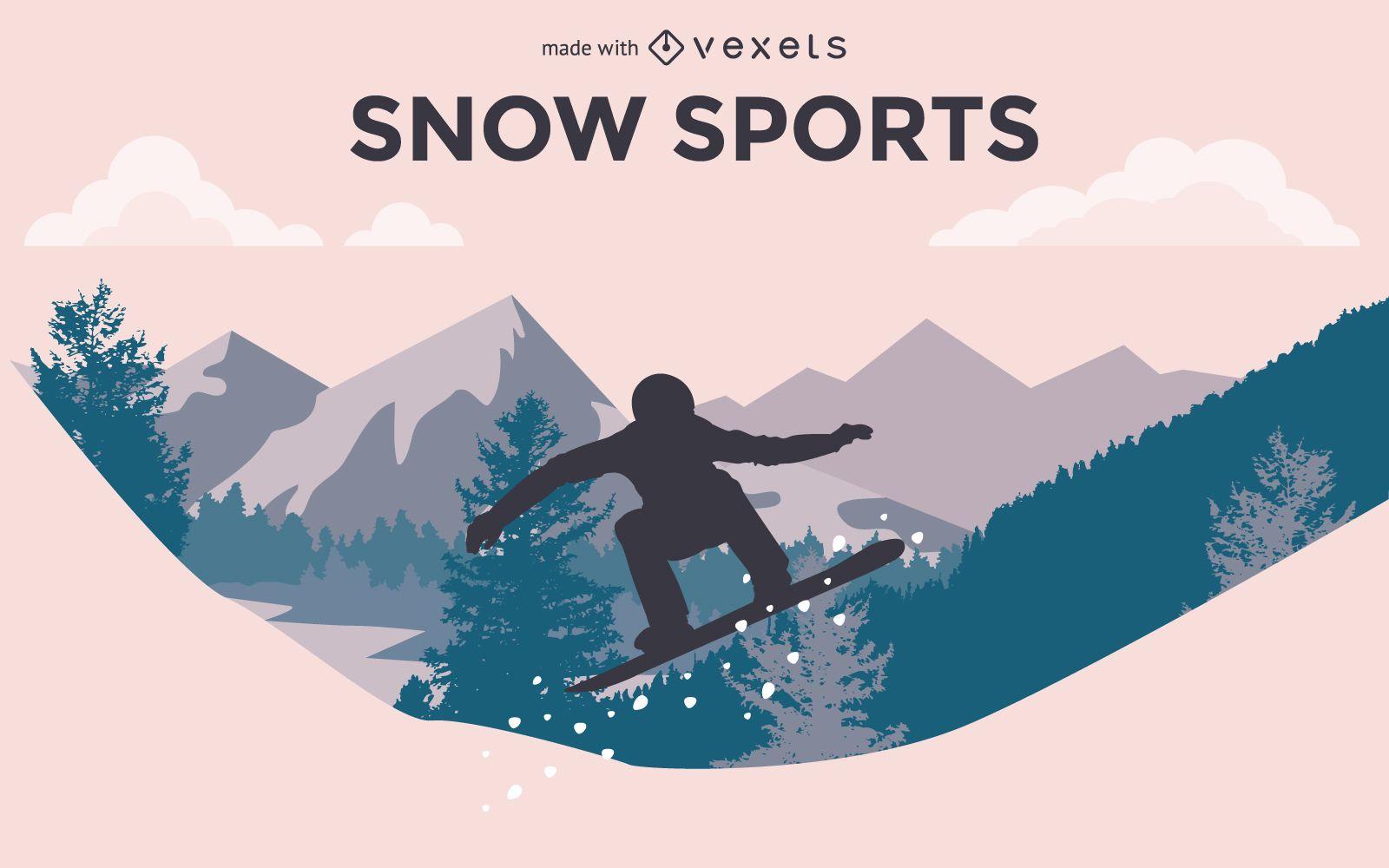 Diseño personalizable de deportes de invierno