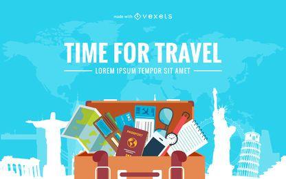 Criador de cartazes de viagem