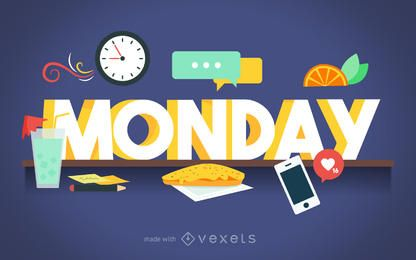 Cartel de los días de la semana