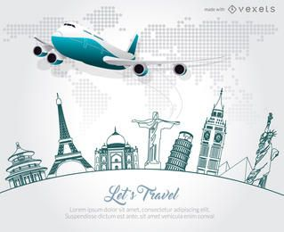 Reise-Skyline-Plakat-Werbemacher