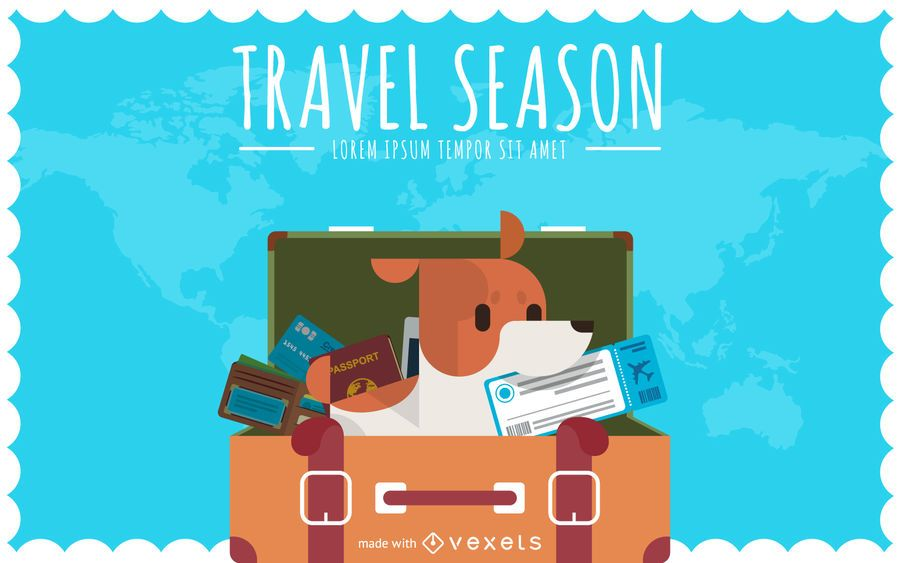 Flat travel poster creator