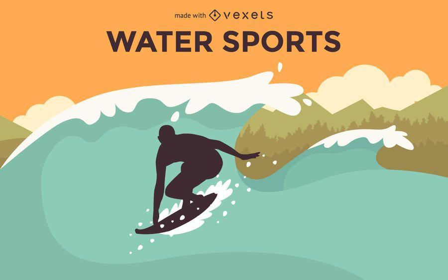 Flat water sports criador de cartaz