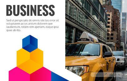 Editor de diseño de folletos de negocios