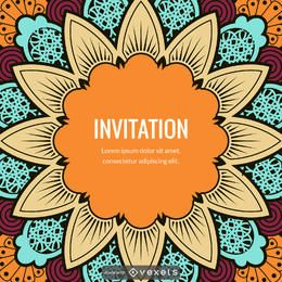 Mandala illustration card maker