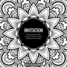 criador projeto da mandala ilustração do cartão