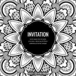 Mandala illustration card design creator