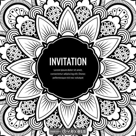 Mandala illustration card design creator