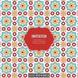Criador de design de telhas árabe do Ramadã