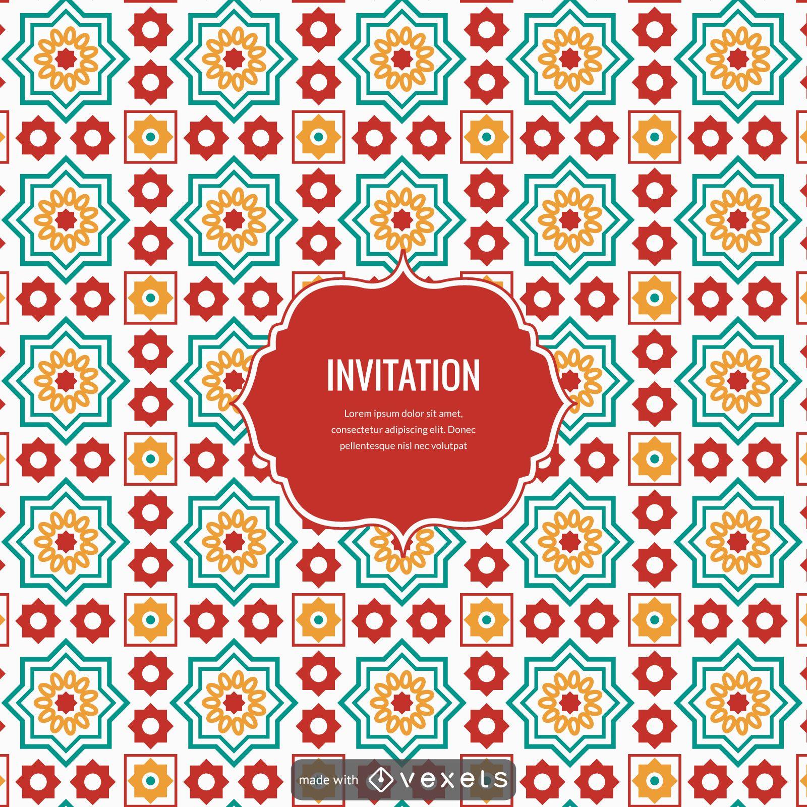 Ramadan arabic tiles design creator