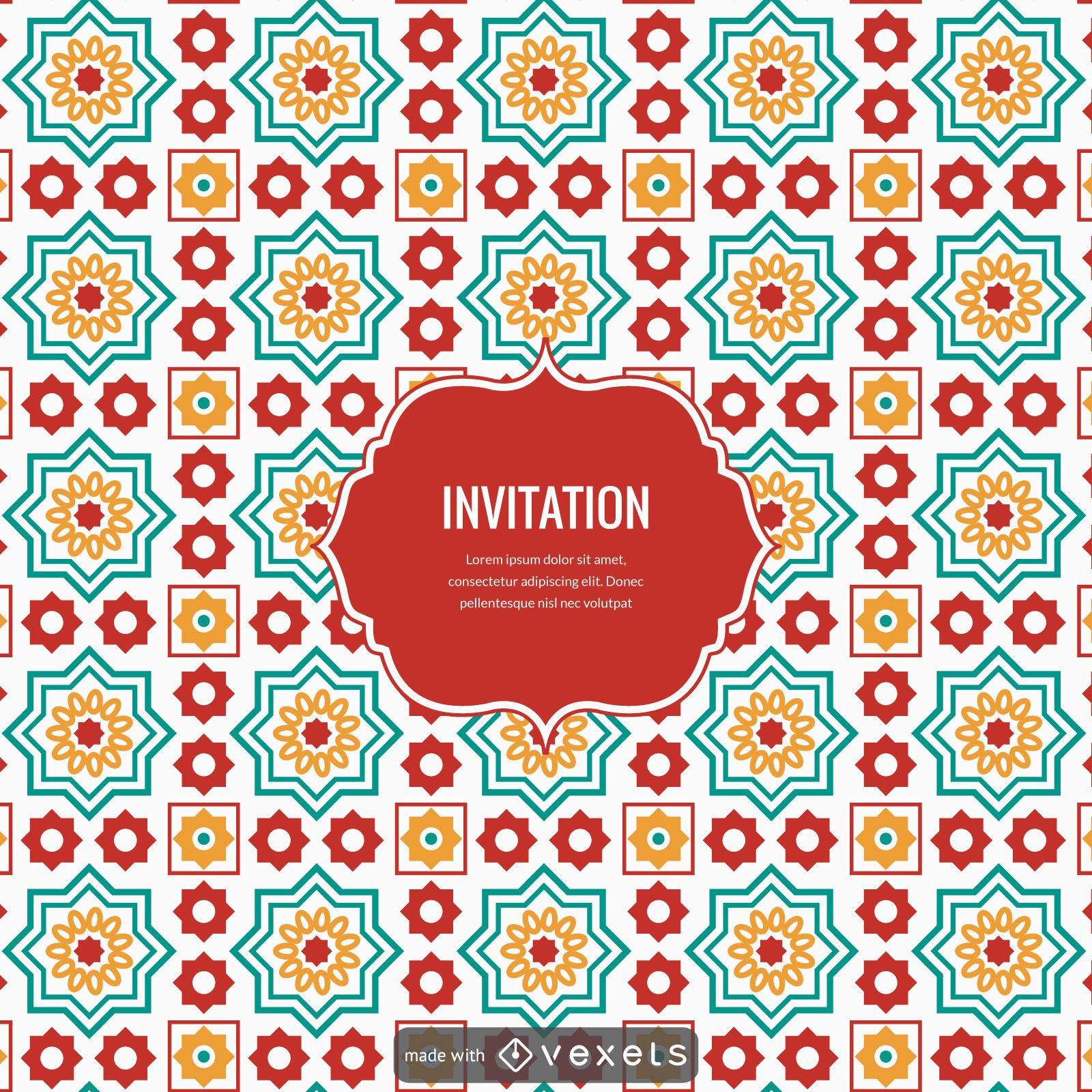 Ramadan Arabic Tiles Design Creator Large Image 1600x1600px