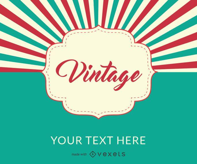 Vintage design poster maker