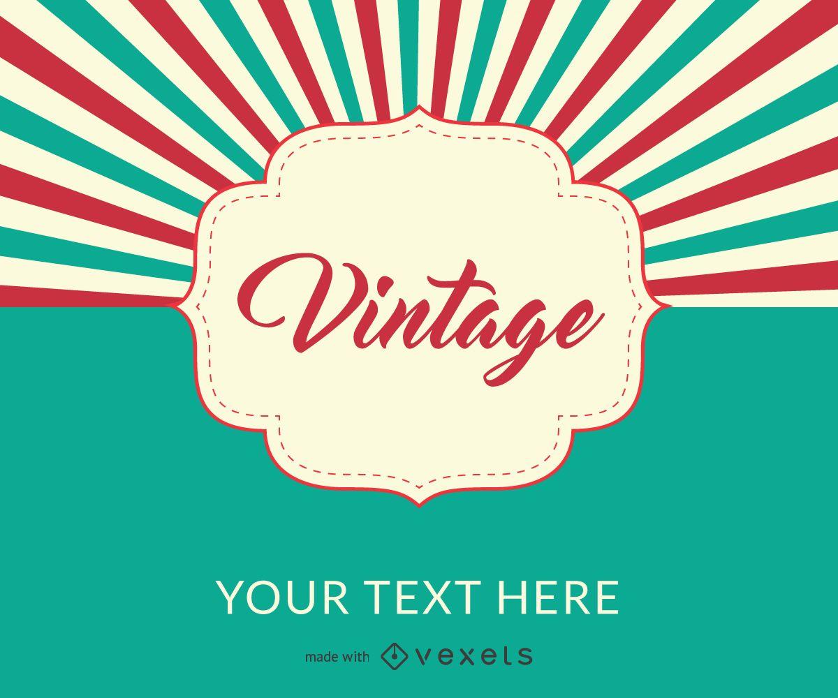 Creador de carteles de diseño vintage