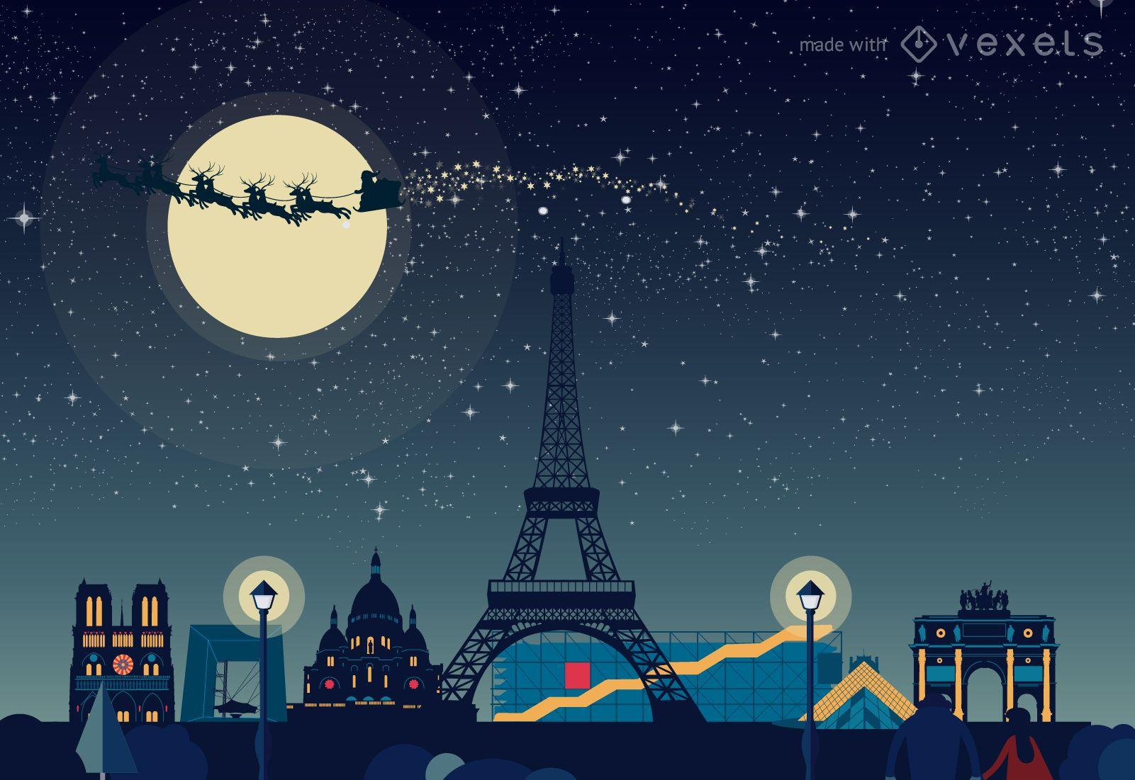 Encantador creador del horizonte de la ciudad navideña