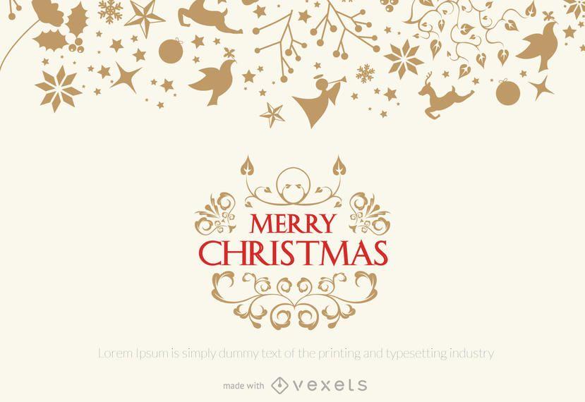 Delicada creadora de tarjetas de felicitación navideñas.