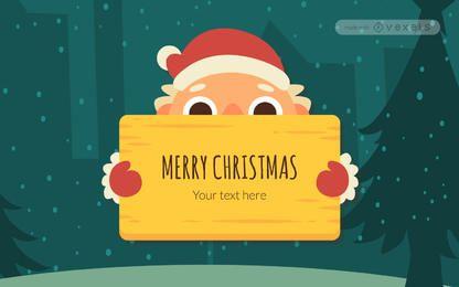 Netter Weihnachtsbotschaftersteller