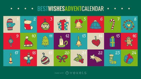Best wishes advent calendar maker