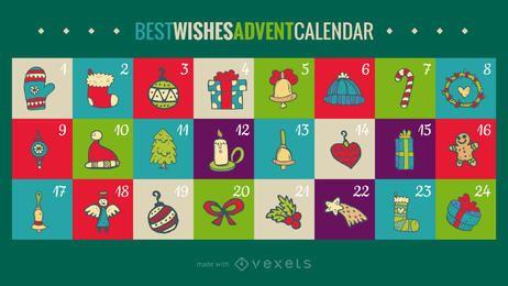 Melhores desejos advento maker calendário