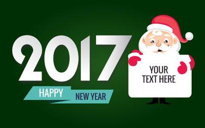 2017 ano novo e editor do cartão do Xmas